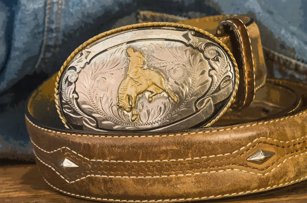 champion rodeo buckle and belt