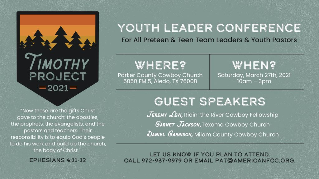 AFCC Timothy Project 2021 Flyer
